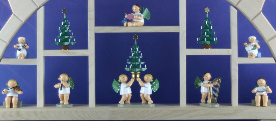 Wendt Und Kühn Weihnachtsbaum.Details Zu Schwibbogen Natur Bestückt Mit Wendt Kühn Engel Lichterbogen Erzgebirge Neu