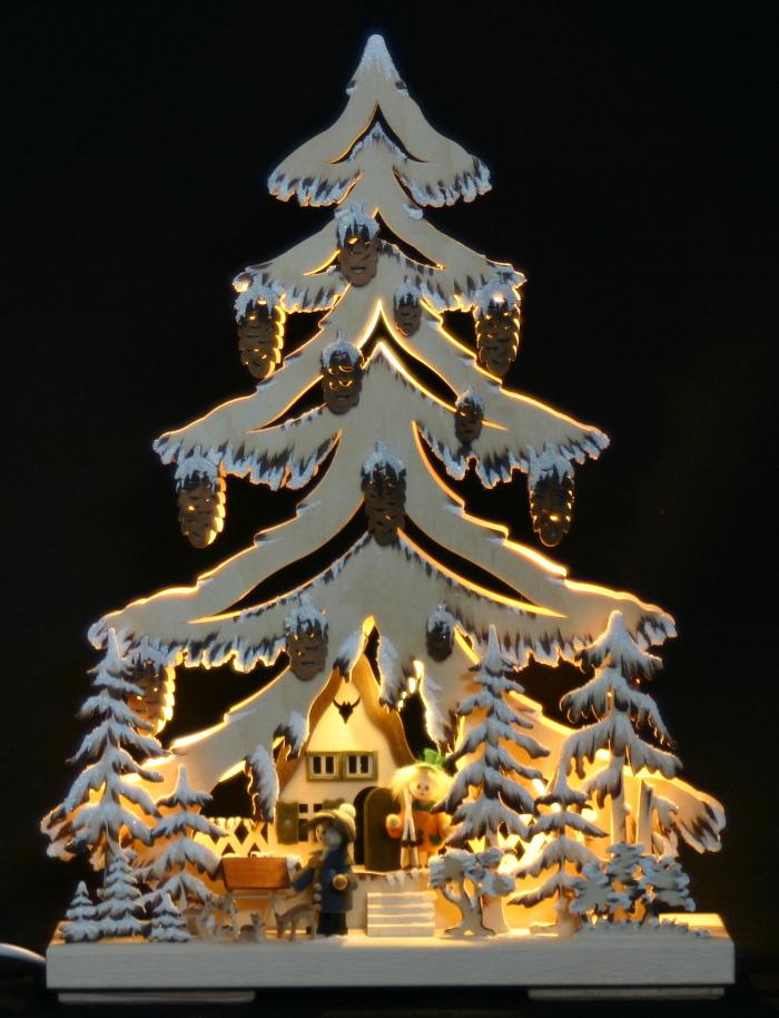 3d schwibbogen led tanne tannenbaum waldmotiv rehe - Lichternetz fa r tannenbaum ...